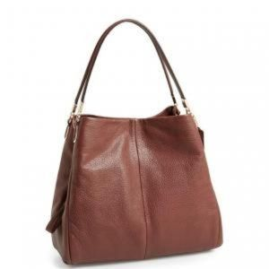 Coach Madison Phoebe in Cognac Brown Leather Purse